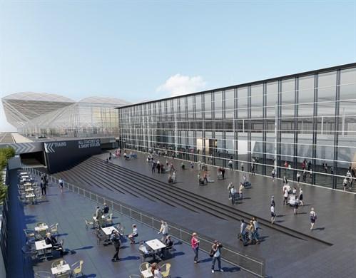 London stansted airport unveils plans for new arrivals building arrivals building m4hsunfo