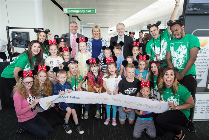 kids' delight as thomas cook airlines' big weekend to the usa starts width=