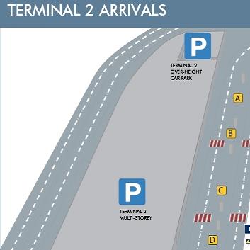 Terminal 2 Arrivals Manchester Map