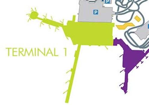 Terminal 1 map