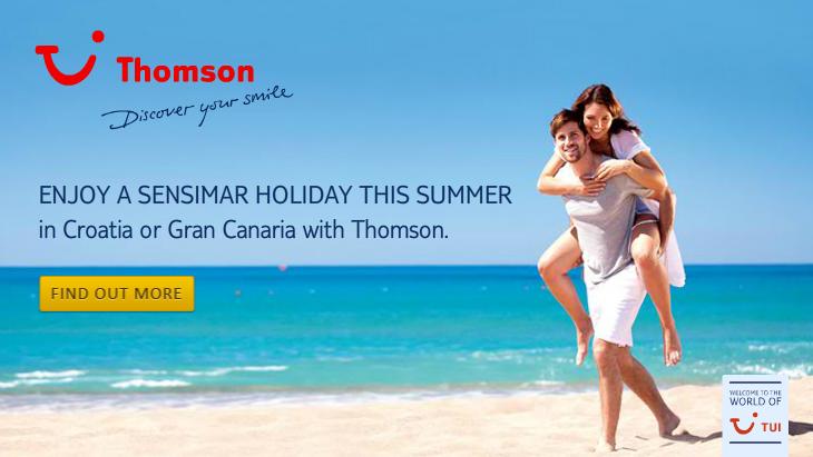 Thomson Sensimar Holidays