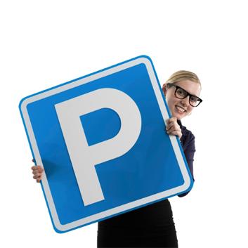 Parking advert minus text