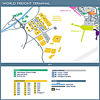 World Freight Terminal Maps Manchester Airport