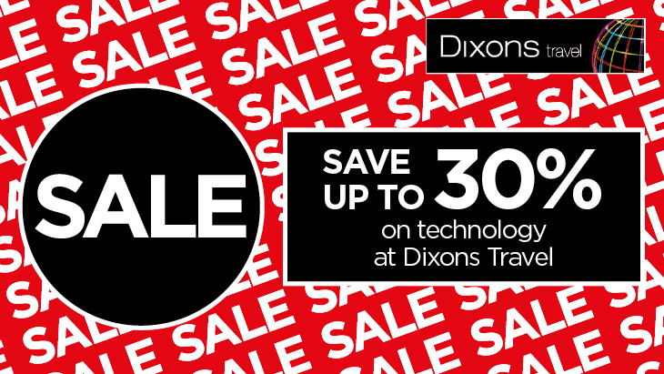 Up to 30% off at Dixons Travel