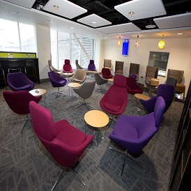 Manchester Airport Terminal 2 Escape Lounge Seating Area