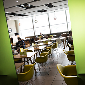 Manchester Airport Terminal 3 Escape Lounge Dining
