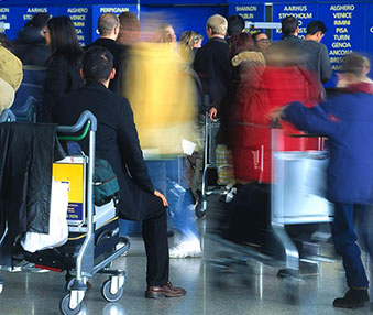 Manchester Airport Trolleys