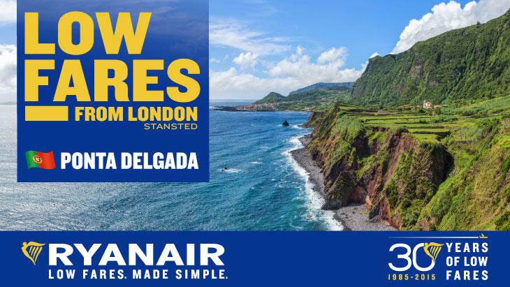Ryanair Azores New Route