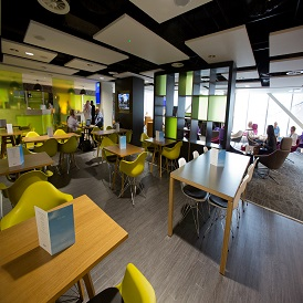 Manchester Airport Terminal 2 Escape Lounge Dining Area