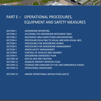Part E Aerodrome Cover
