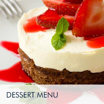 Dessert -menu