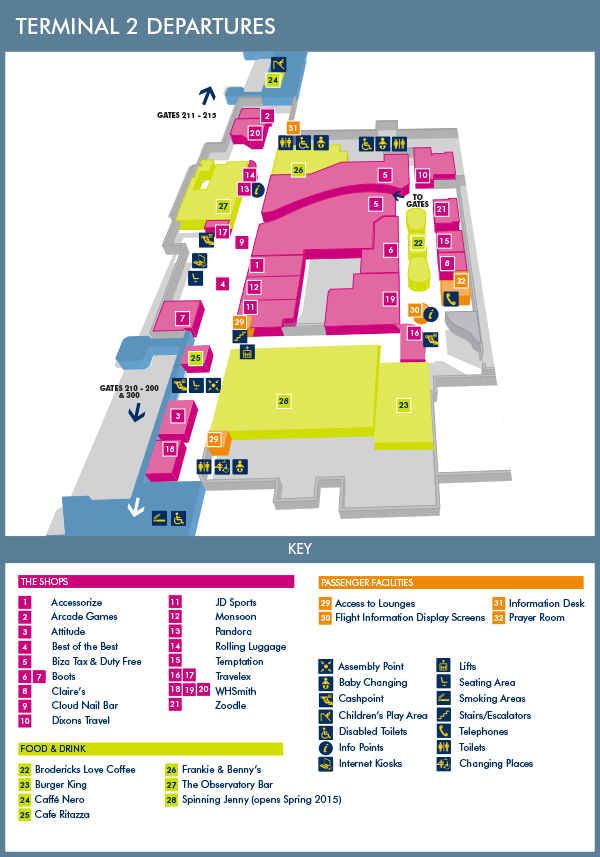 Map of manchester airport terminal 2 afputra terminal 2 manchester airport luggage trolleys hire costs at uk airports baggage trolleys m4hsunfo
