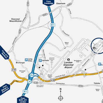 meet and greet stansted directions map