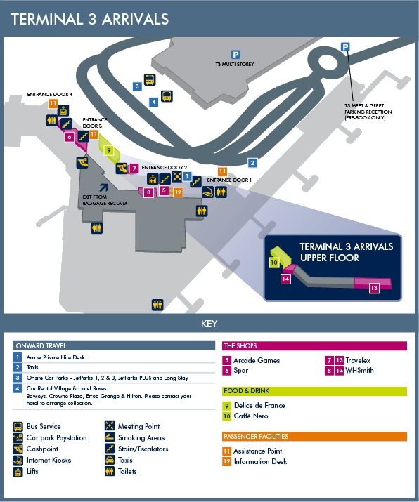 manchester airport terminal 3 meet and greet map